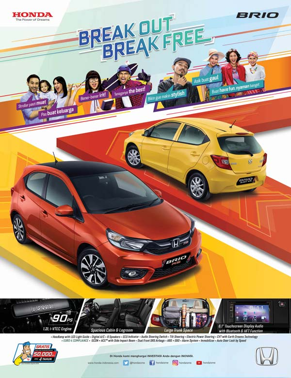 ALL NEW HONDA BRIO : BREAK OUT BREAK FREE