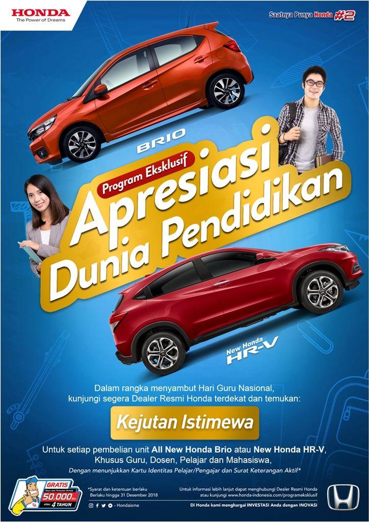 Promo Eksklusif All New Honda Brio & New Honda HR-V